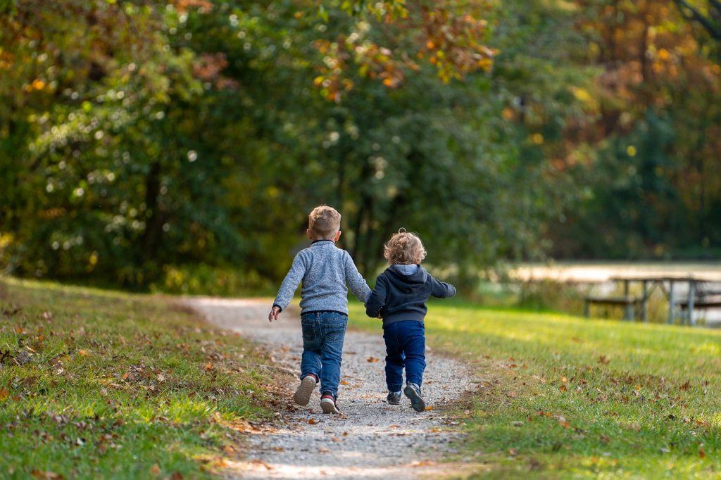 boys, children, path